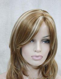 $enCountryForm.capitalKeyWord NZ - WIG LL 2757 strawberry blonde with blonde highlight side skin top wavy medium long bangs wig