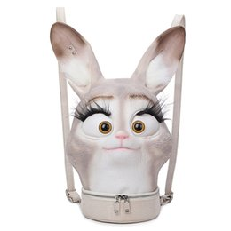 $enCountryForm.capitalKeyWord UK - Fashion hiphop Personality 3D Solid lifelike Rabbit Head Bunny Animal backpack Halloween Cool Travel Soft School Bags