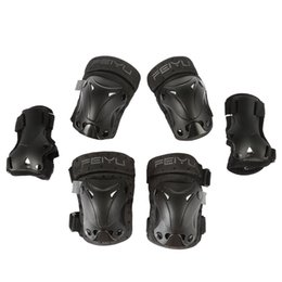 Tactical Protective Gear Australia - 6pcs Elbow Knee Pads tactical Elbow Pads Wrist Sports Roller Skating Knee Wrist Protective Guard Gear Pad