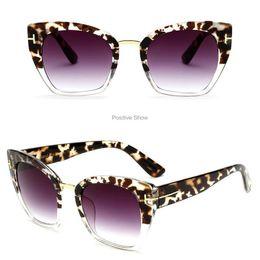 Wide Framed Glasses Australia - Trendy Leopard Frame Women Brand Sunglasses Fashion Personality Wide Lens Female Sunglass Holiday Beach Design Girls Luxury Sun Glass