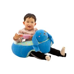 learning for infants UK - Baby Learning Sitting Seat Infant Baby Cartoon Seats Sofa Learning Sitting Chair Portable Seat Children's Plush Toy For 0-3 Old