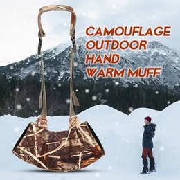 Fish Hand Bags Australia - Camouflage Outdoor Hand Warm Muff Fits Hunting Bag Windproof Warmer Gloves Winter Hunting Glove for Fly Fishing Camping Hiking #717440
