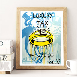 Luxury Picture Frames Australia - Luxury Tax Ring Alec Monopolyingly Canvas Prints Picture Modular Paintings for Living Room Poster on The Wall Home Decoration