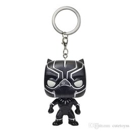 $enCountryForm.capitalKeyWord UK - Wholesale price Big discout Funko Pocket POP Keychain - Black Panther Vinyl Figure Keyring with Box Toy Gift Good Quality fast Shipping