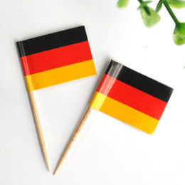 $enCountryForm.capitalKeyWord NZ - 5000 Pieces German Sandwich Flags Picks GERMANY Food Party Bar Pub Club Buffet Cocktail Sticks Tooth Picks Wood Wooden Table Decoration