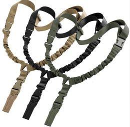 One pOint adjustable sling online shopping - Heavy Tactical One Single Point Sling Adjustable Bungee Shoulder strap length sling belt