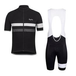 Ingrosso 2019 RAPHA estate uomo manica corta ciclismo jersey abbigliamento bici Abbigliamento bib SET MTB uniforme PRO abbigliamento ciclismo bicicletta Maillot Culotte completo