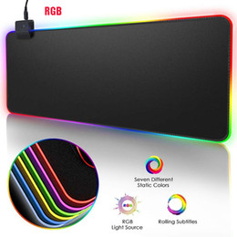 Wholesale 350*250mm RGB Gaming Mouse Pad Large Mouse Pad Gamer Led Computer Mousepad Big Mouse Mat with Backlight Carpet For keyboard Desk Mat Mause