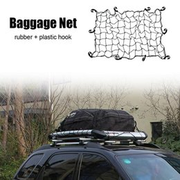 rubber bungee Canada - High Quality Car Luggage Net Cover Rubber Latex Elastic Roof Luggage Mesh Car Elasticated Bungee Cargo Net