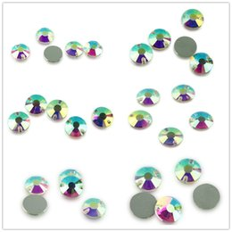 diy stone sew clothe UK - Various Size Round Flower AB Color Sew On Crystal Applique Sew On Flatback Acrylic Beads Strass Stones For DIY Clothes Decoration