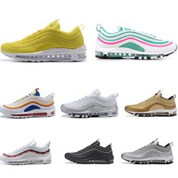 beab72fcbb11 2019 97 OG UNDEFEATED Metallic Gold Silver PULL TAB WHITE 3M Premium Running  Shoes Men Women Sport Shoes Sneakers With Box