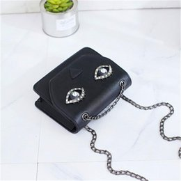 Big Eye Glitter Australia - Fashion Bags Cross Body Small Square Bags Wholesale Pop Korean Version Of The Shoulder Wrapped Around Personality Big Eyes Packages