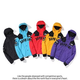 Vintage sports jackets online shopping - Autumn and winter five colors fashionable outdoor sports waterproof jacket charge jacket stand collar hoodie jacket man