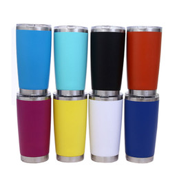 Thermos insulaTed coffee mugs online shopping - Cheapest Glitter Insulated Tumblers oz Travel Car Cup Stainless Steel Water Bottle Coffee mugs Thermos Beer Cups with lids Christmas Gifts