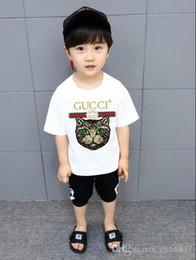 Детская хлопка с коротким рукавом футболки моды буквы рубашки качества футболки случайные рубашка с короткими рукавами футболки детские clothin YY1 на Распродаже