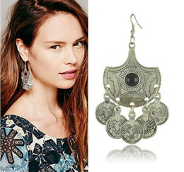 $enCountryForm.capitalKeyWord Australia - Jewelry of Europe and the United States Big Name Retro Earrings And Turkish Coin Earrings Female Direct Sales