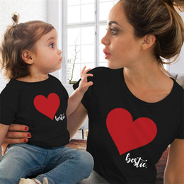 $enCountryForm.capitalKeyWord NZ - Summer T Shirt Family Matching Outfits Mother Daughter Clothes Heart Printed Short Sleeve T Shirt Cute Tops Lovely Casual
