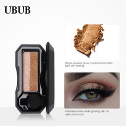 Discount cream eyeshadow brands - UBUB Brand Waterproof Double Color Eyeshadow Palette Shimmer Color Eye Shadow Cream Eye Makeup Palette Cosmetics