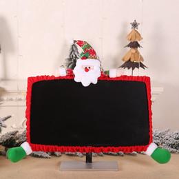 $enCountryForm.capitalKeyWord NZ - Cute 3D Doll Decorative Christmas Computer Monitor Cover Laptop Display Dustproof Cover Monitor Screen Protector Xmas Home Decor