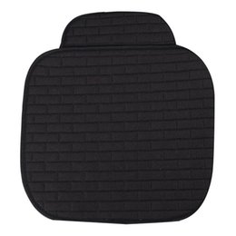 Auto Seat Warmers Australia - 1 Universal Seat Covers Car Seat Protector Flax Single Non-slip Cushion Warm Car Seat Cover for Auto Van Truck