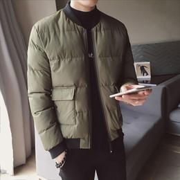 Uniform scarfs online shopping - New Winter Baseball Uniform Jacket Men s Slim Warm Thick Fashion Casual Big Pocket Coat Man Streetwear Wild Cotton Jacket Men