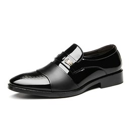 Ce Shoes Australia - Big Size 38-48 Oxfords Leather Men Shoes Fashion Casual Pointed Top Formal Business Male Wedding Dress Flats Brown Black Loafers YFY-CE