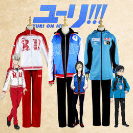 yuri ice cosplay Australia - Anime YURI !!! on ICE Yuri Katsuki \ Victor Nikiforov \ Yuri Plisetsky Cosplay Costume Hight Quality Jackets Hoodie PantsMX190921