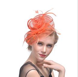 $enCountryForm.capitalKeyWord Australia - Headwear European and American banquet NET hat wedding screen feather headdress