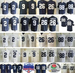NCAA Penn State Nittany Lions College  26 Saquon Barkley 9 Trace McSorley  88 Mike Gesicki 2 Marcus Allen Paterno Stitched Football Jerseys 52a6dae8e