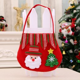 cute christmas gift bags Australia - New Year 2020 Christmas Gift Bags Cute Drawstring Santa Claus Snowman Elk Candy Packing Christmas Decoracao Para casa Dropship #