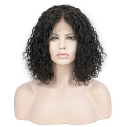$enCountryForm.capitalKeyWord Canada - Bob Short Curly Brazilian Remy Hair 13x6 Lace Front Human Hair Wigs Full Lace Frontal Wig Pre Plucked Baby Hair Natural Hairline For Women