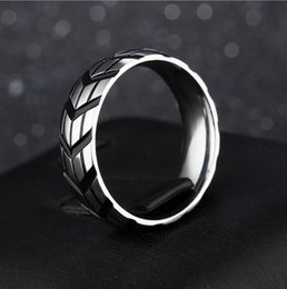 $enCountryForm.capitalKeyWord Australia - Fashion Men's Silver Stainless Steel Cool Motorcycle Tire Rings Biker Jewelry Jewelry Accessory