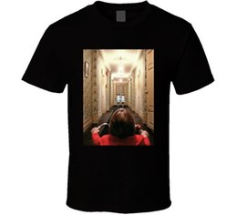 bb8e3d53e8fc O Shining Horror Kubrick Rei Nicholson Filme Clássico Fã T Shirt camisa do  logotipo T personalizado foto do texto Dos Homens T-shirt Das Mulheres