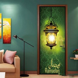 Art People Australia - 2Pcs Set Bright Lamp In Darkness Islamic Muslim Mural Art Removable Calligraphy PVC Decal Door Wall Sticker Home Decor