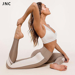$enCountryForm.capitalKeyWord Australia - 2017 Hot Sales Patchwork Yoga Pants For Women Breathable Yoga Leggings Elastic Workout Gym Pants Running Tights Activewear #278483
