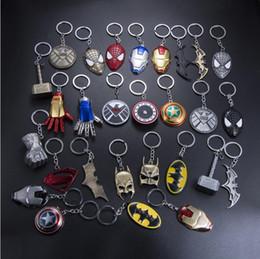 $enCountryForm.capitalKeyWord Australia - 20 pieces lot, Animation movie Hero equipment Alloy Pendant Key chains automobile Key Ring Iron Man Mask Animation cartoon Accessories gift