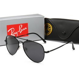 $enCountryForm.capitalKeyWord Australia - New fashion classic mens sunglasses Pilot glasses gold frame with Slim frame design metal frame vintage style outdoor with original box