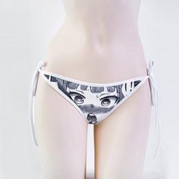 e13118e0d Ahegao Sexy Mulheres Design Exclusivo Anime Padrão Dos Desenhos Animados  Impresso Gelo de Seda Da Menina Underwear Triangel Calcinha Traje de Verão