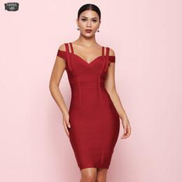 Women green lantern shirt online shopping - 2019 Red Bandage Dress Women Off The Vestidos Sexy Clubwear Evening Party Dress New Bodycon Summer Dresses