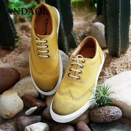 $enCountryForm.capitalKeyWord NZ - ANDAOL Men's Leather Casual Shoes Top Quality Genuine Cow Leather Business Oxfords New Luxury Breathable Lace-Up Driving Shoes