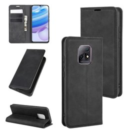 business card holder magnetic Australia - For Xiaomi Redmi 10X Pro 5G 10X 5G Retro-skin Business Magnetic Suction Leather Case with Holder & Card Slots & Wallet