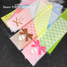 self adhesive gift bows Australia - 100pcs lot White Bow Heart Lace Self Adhesive Seal Bakery Bread Plastic Cookies Bags Gift Cellophane Bags Candy Wholesale