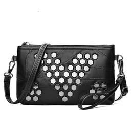 2cd9e55bb2d good quality Genuine Leather Women Handbags Brand Clutch Soft Women  Messenger Bags Rivet Crossbody Bag Small Shoulder Bag Sac A Main