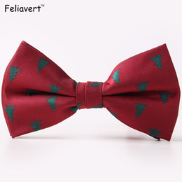 $enCountryForm.capitalKeyWord Canada - Christmas Tree Bow Ties For Men Fashion Bowtie Snow Folwer Ties Unique Butterfly Wedding Party Gifts Brand