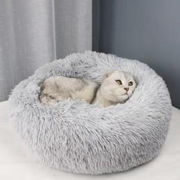 $enCountryForm.capitalKeyWord Australia - JORMEL Deep Sleep Dog House Round Nest Autumn Winter Cat Mattress for Small Medium Dogs Warm Fleece Dog Kennel Puppy Mat Pet Bed