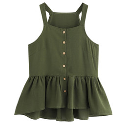 Discount spaghetti top button - Summer Tank Top Women Streetwear Button Sleeveless Tank Tops Harajuku Festival Spaghetti Strap Top Women Clothes 2019