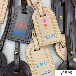 stamp accessories NZ - Fashion brand Travel Accessories GRACEFUL luggage tag Personalized custom name initial hot stamping