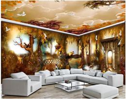 $enCountryForm.capitalKeyWord Australia - 3d room wallpaer custom photo Autumn fairy forest dream animal kingdom full house background decor 3d wall murals wallpaper for walls 3 d