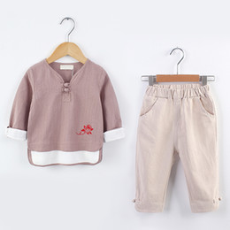 Chinese Suits Australia - Children's Hanjacket, Chinese Baby's Tang Dress, Children's Cotton and Hemp Suit, Girls'Ancient Dress, National Long Sleeves D154