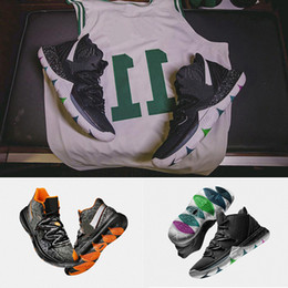 Shoe Box Canvas NZ - 2018 New 5 5s Basketball Shoes Black Magic for Top Quality Kyrie Chaussures Black White Maple Leaf Mens Trainers Sports Sneakers With Box